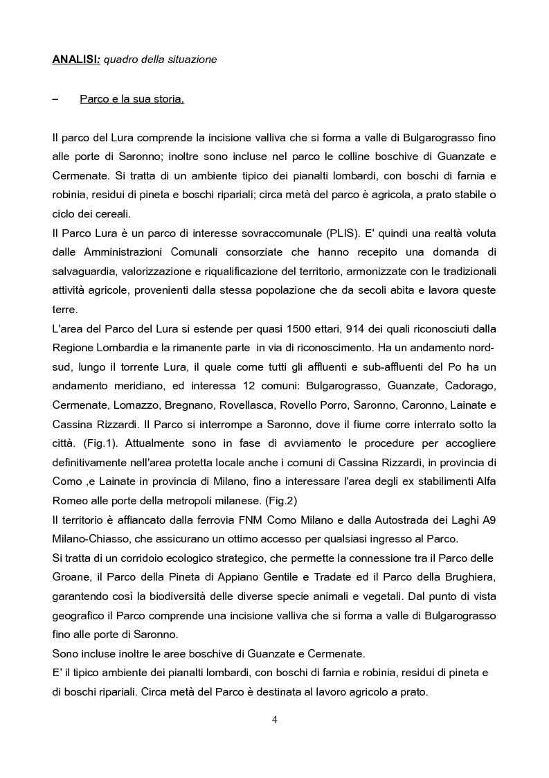 Anteprima della tesi: Il Parco del Lura: luci ed ombre, i suoi problemi, la conservazione e la riqualificazione., Pagina 3