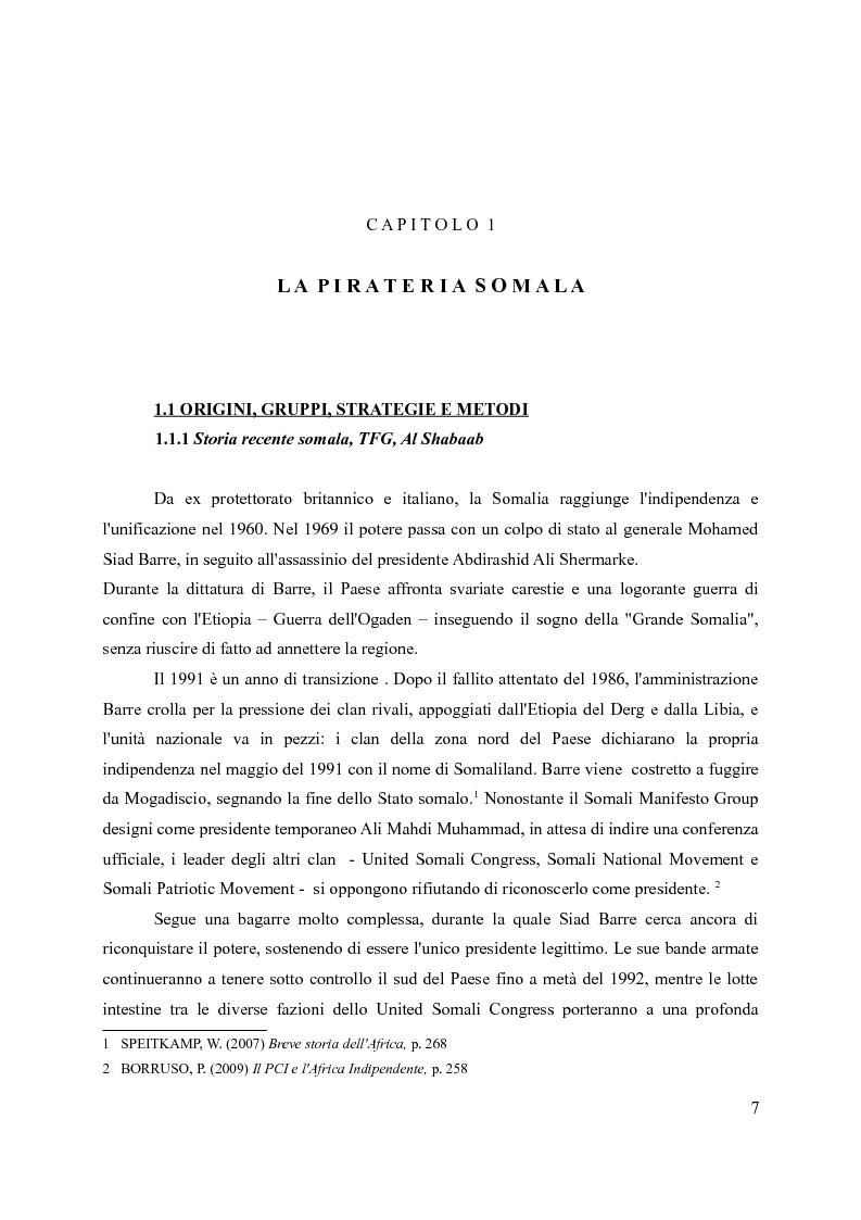 Anteprima della tesi: La pirateria nel XXI secolo: il caso somalo e la risposta occidentale, Pagina 4