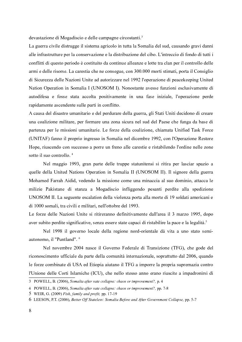 Anteprima della tesi: La pirateria nel XXI secolo: il caso somalo e la risposta occidentale, Pagina 5