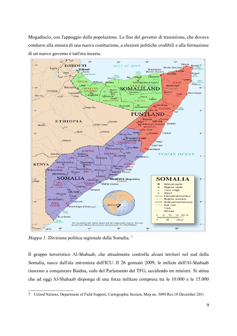 Anteprima della tesi: La pirateria nel XXI secolo: il caso somalo e la risposta occidentale, Pagina 6