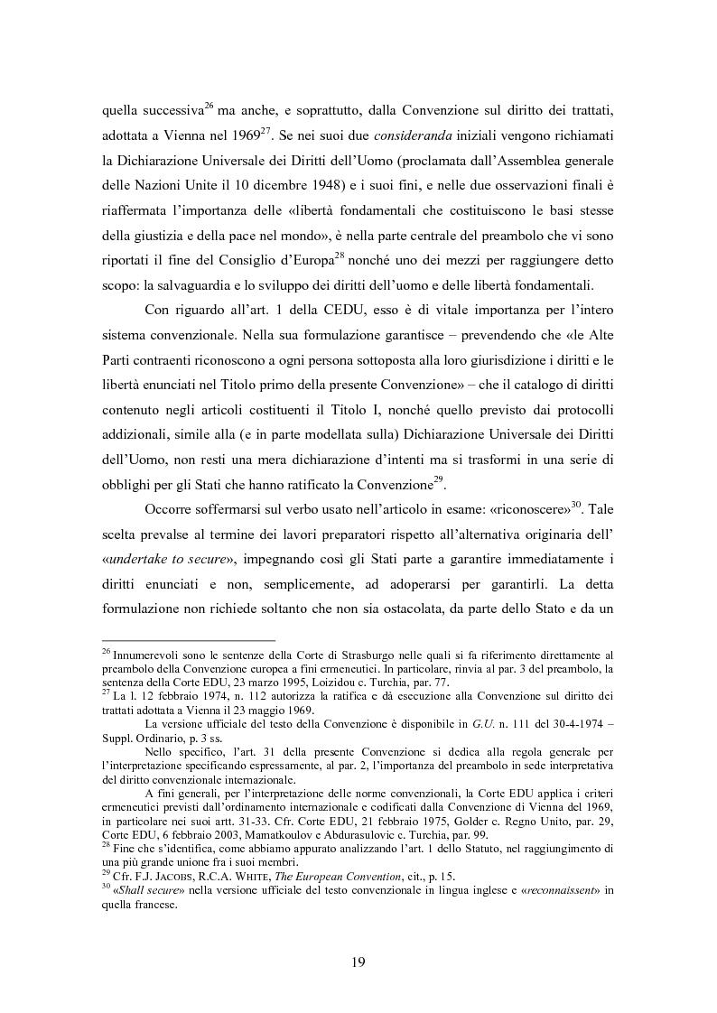 Anteprima della tesi: Ottemperanza alle sentenze della Corte europea dei diritti dell'uomo e processo penale , Pagina 11