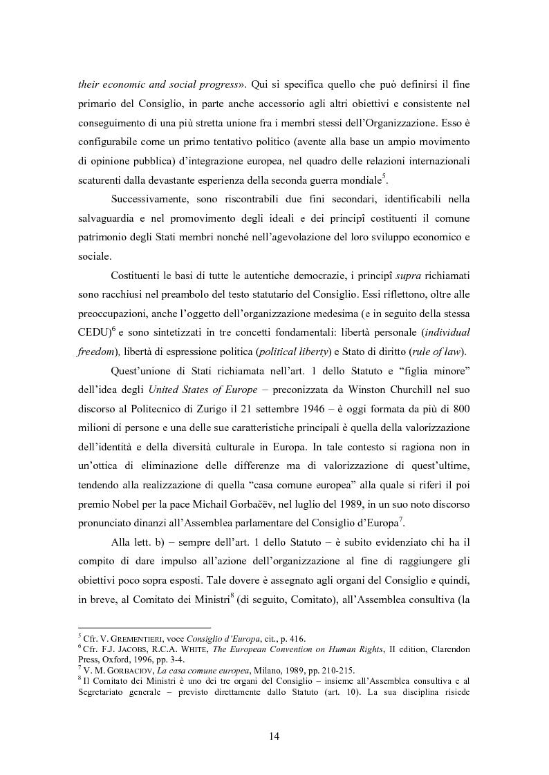 Anteprima della tesi: Ottemperanza alle sentenze della Corte europea dei diritti dell'uomo e processo penale , Pagina 6
