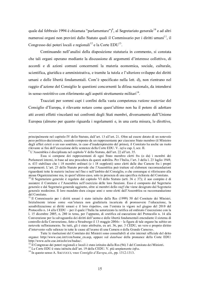 Anteprima della tesi: Ottemperanza alle sentenze della Corte europea dei diritti dell'uomo e processo penale , Pagina 7