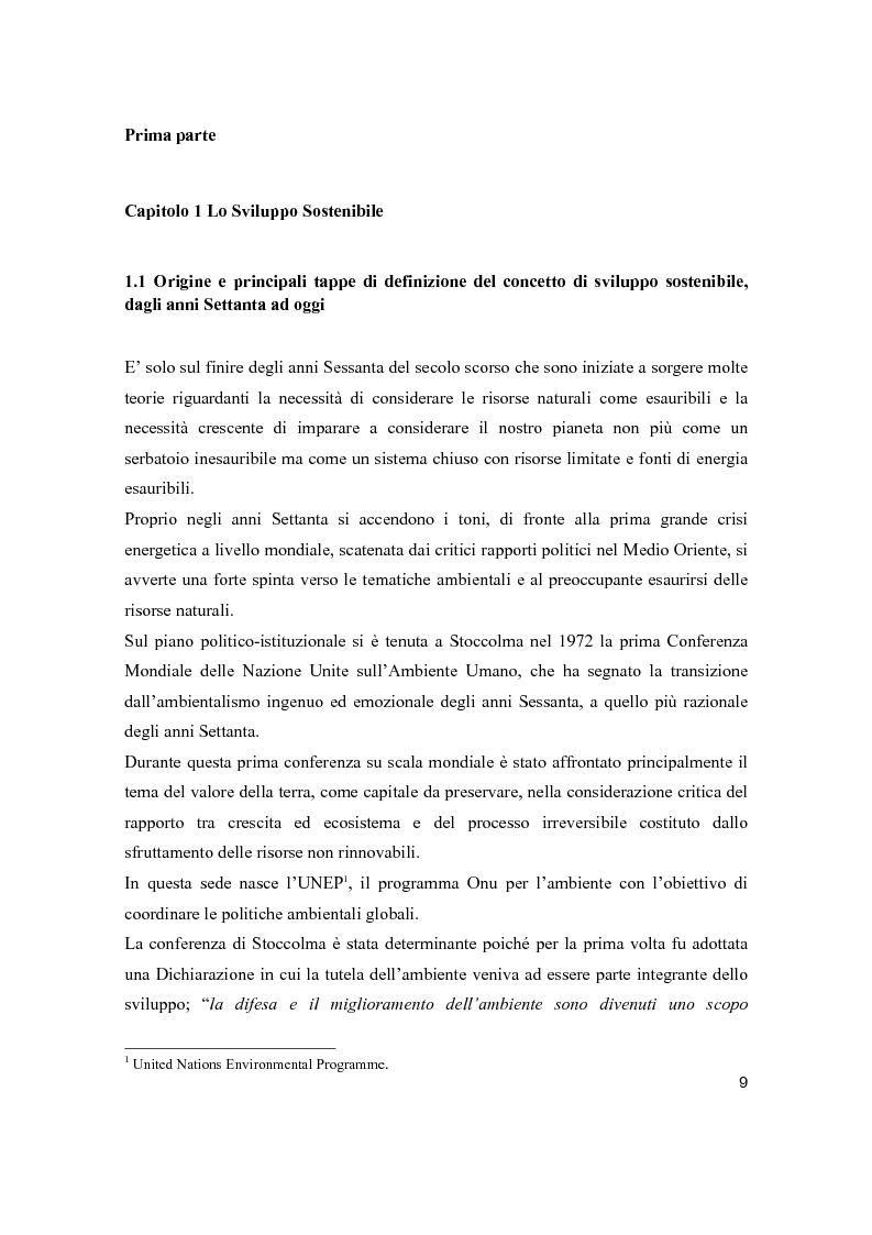 Anteprima della tesi: Lo sviluppo sostenibile nell'esperienza aziendale di Sanpellegrino, Pagina 4