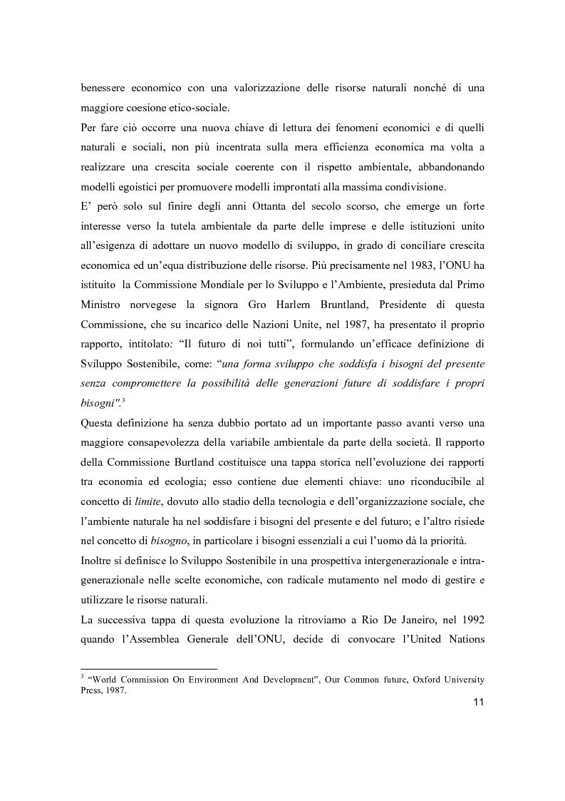 Anteprima della tesi: Lo sviluppo sostenibile nell'esperienza aziendale di Sanpellegrino, Pagina 6