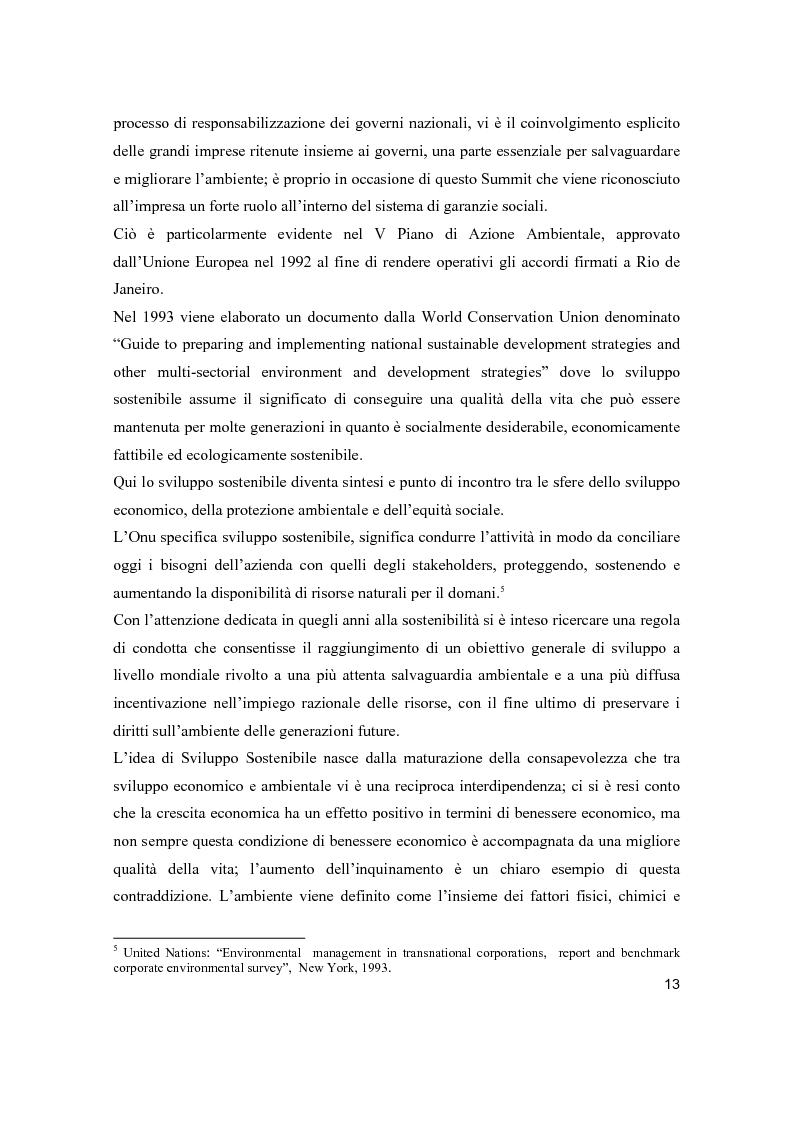 Anteprima della tesi: Lo sviluppo sostenibile nell'esperienza aziendale di Sanpellegrino, Pagina 8