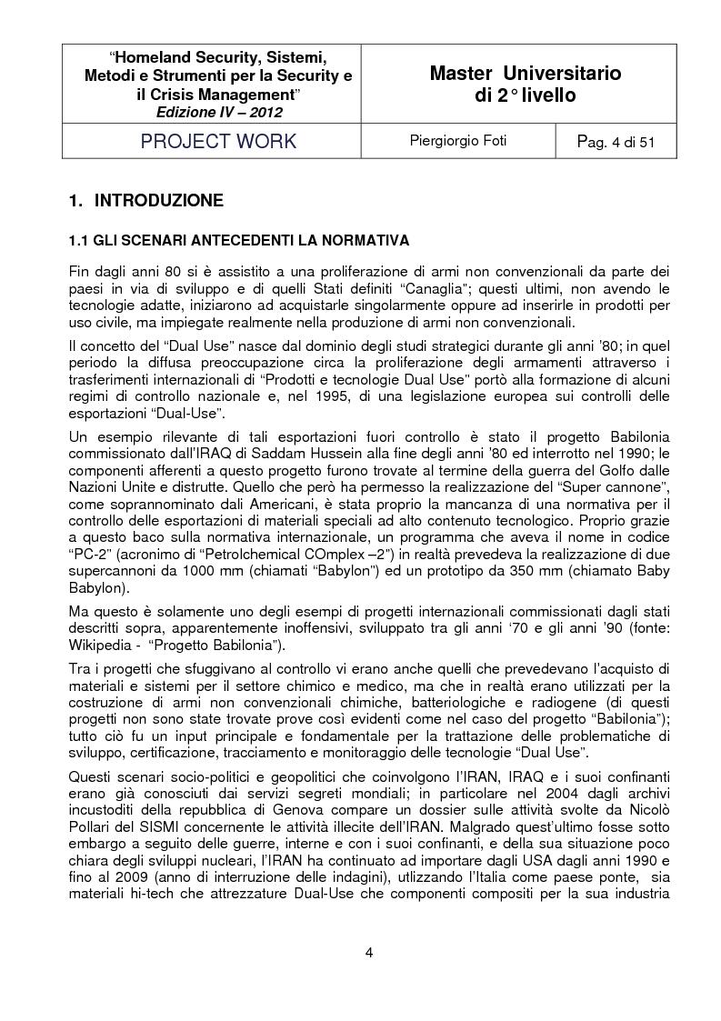 Anteprima della tesi: I sistemi Dual-Use: sviluppo, applicazioni e tecnologie abilitanti, Pagina 2