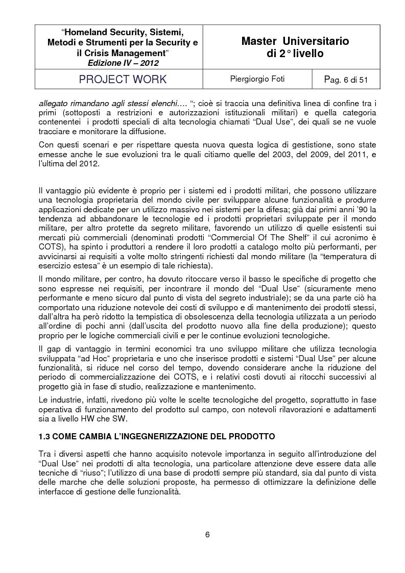 Anteprima della tesi: I sistemi Dual-Use: sviluppo, applicazioni e tecnologie abilitanti, Pagina 4