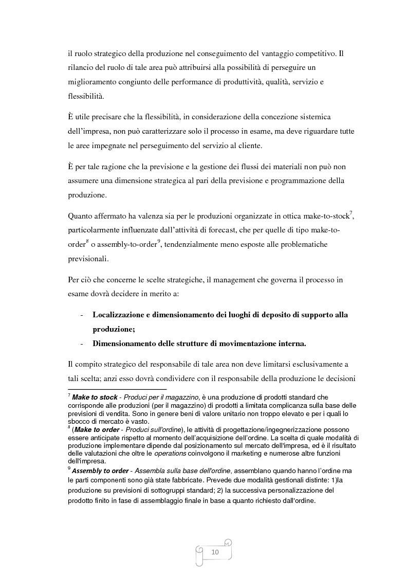 Anteprima della tesi: Un approccio integrato nella evoluzione della logistica: il caso Cellini S.P.A., Pagina 11