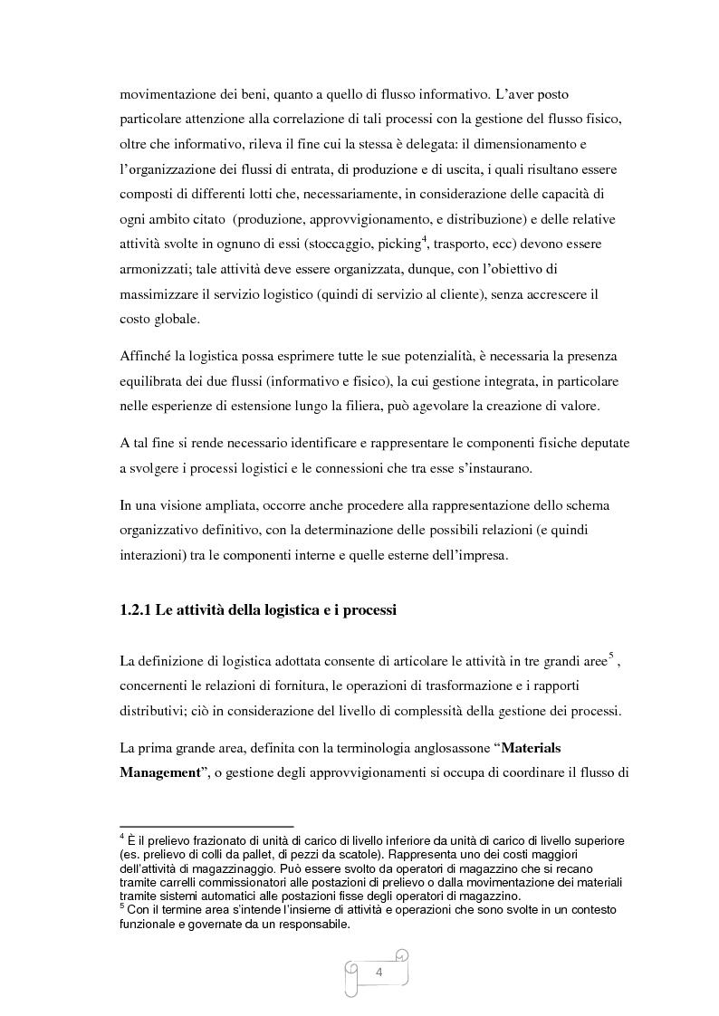 Anteprima della tesi: Un approccio integrato nella evoluzione della logistica: il caso Cellini S.P.A., Pagina 5