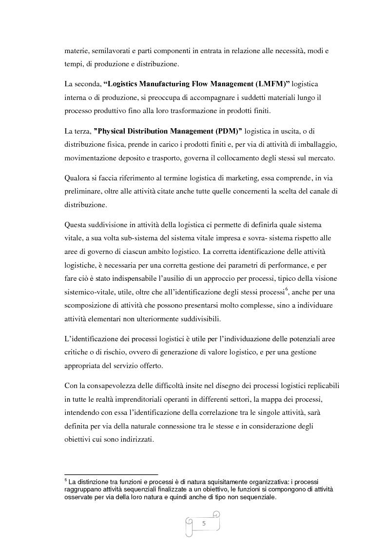 Anteprima della tesi: Un approccio integrato nella evoluzione della logistica: il caso Cellini S.P.A., Pagina 6