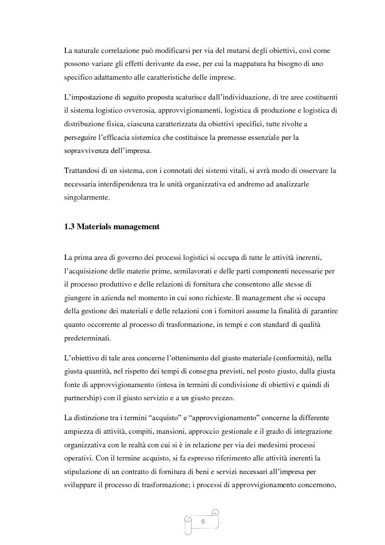 Anteprima della tesi: Un approccio integrato nella evoluzione della logistica: il caso Cellini S.P.A., Pagina 7