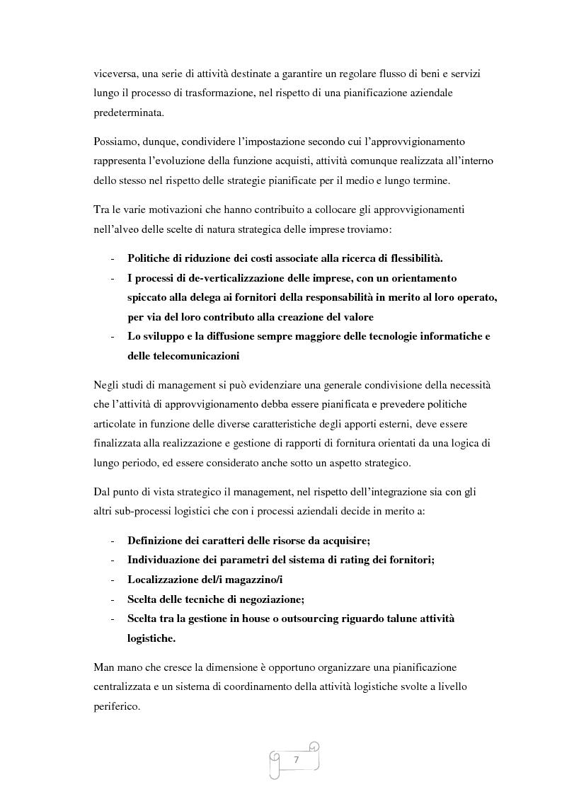 Anteprima della tesi: Un approccio integrato nella evoluzione della logistica: il caso Cellini S.P.A., Pagina 8