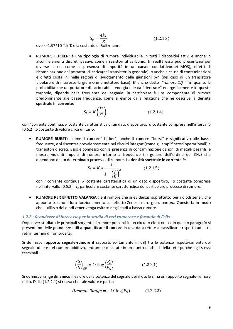 Anteprima della tesi: Analisi e progetto di un cascode Low Noise Amplifier ad 1GHz, Pagina 5