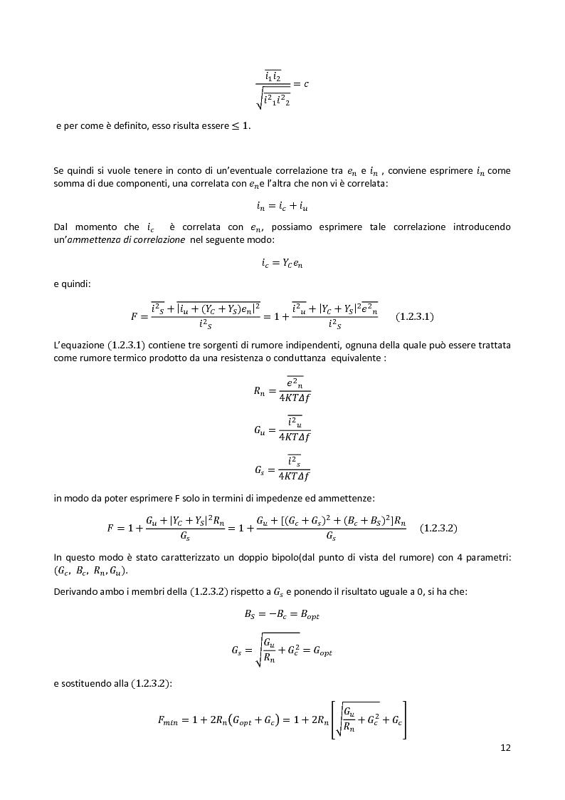 Anteprima della tesi: Analisi e progetto di un cascode Low Noise Amplifier ad 1GHz, Pagina 8