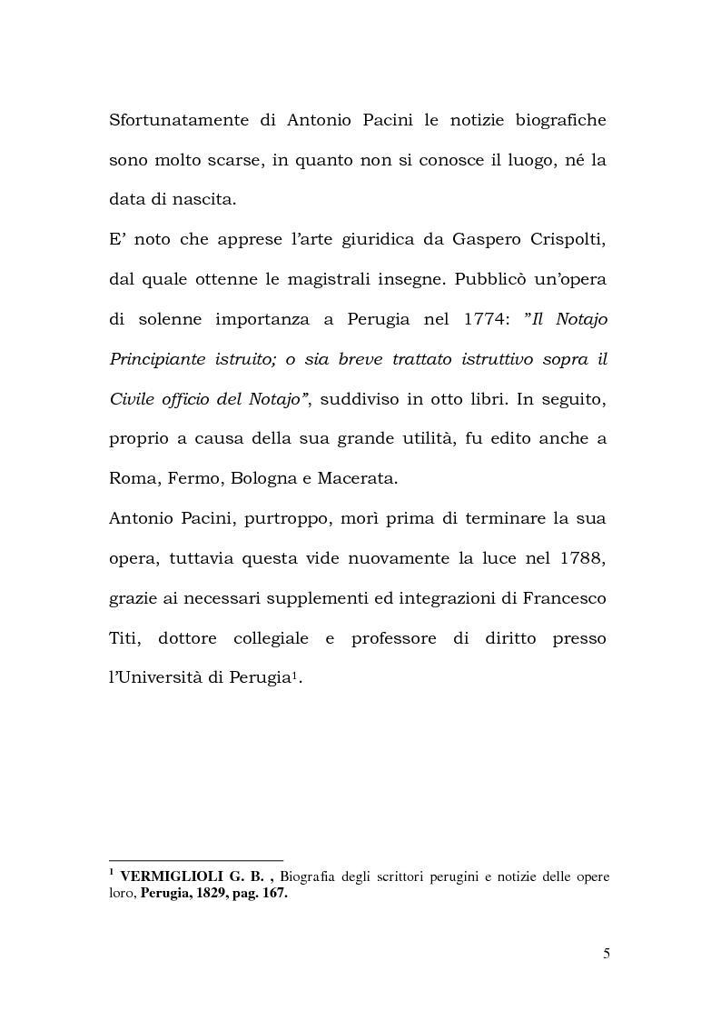Anteprima della tesi: La Professione Notarile nell'opera di Antonio Pacini (1774), Pagina 4