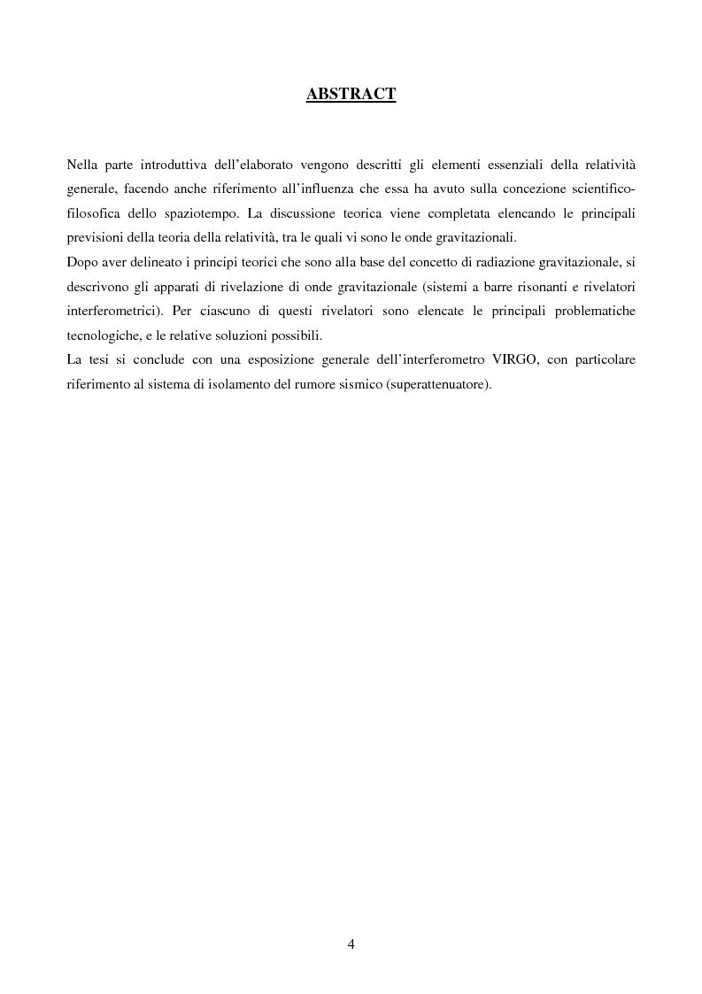 Anteprima della tesi: Studio delle Onde Gravitazionali: da Einstein a Virgo, Pagina 2