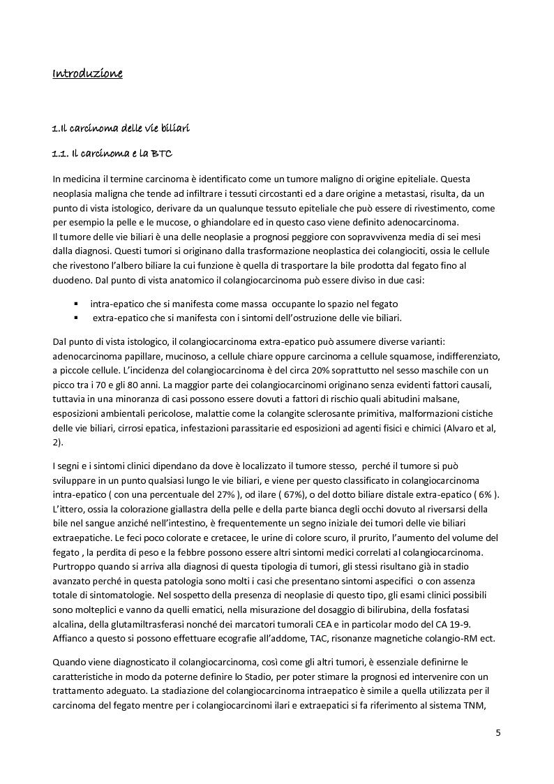 Anteprima della tesi: I polimorfismi del Cancro delle vie Biliari, Pagina 3