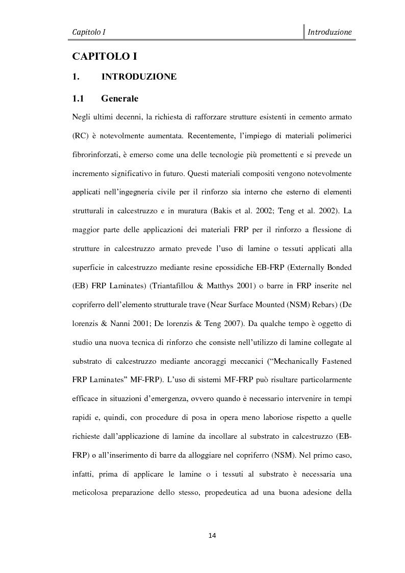 Anteprima della tesi: Effetto del Bond-slip sulla capacità ultima di travi rinforzate con MF-FRP, Pagina 2