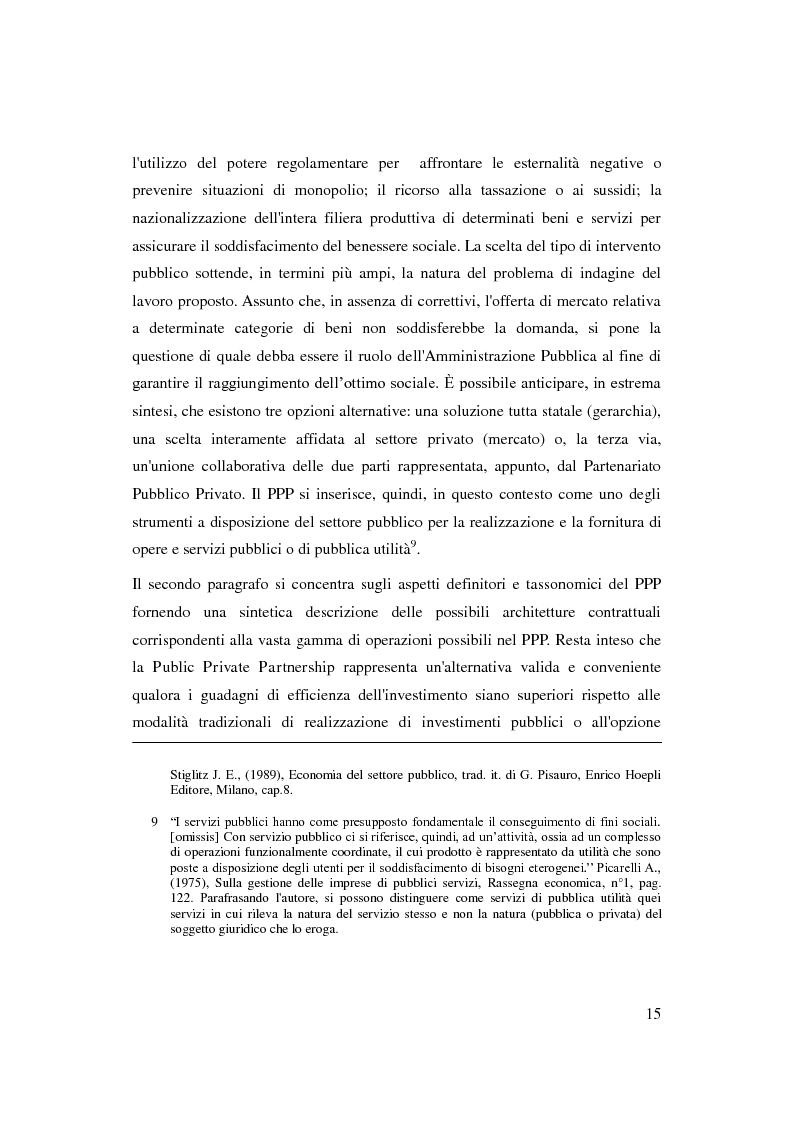 Anteprima della tesi: Il Partenariato Pubblico Privato in Italia: esiti, tendenze e prospettive, Pagina 11