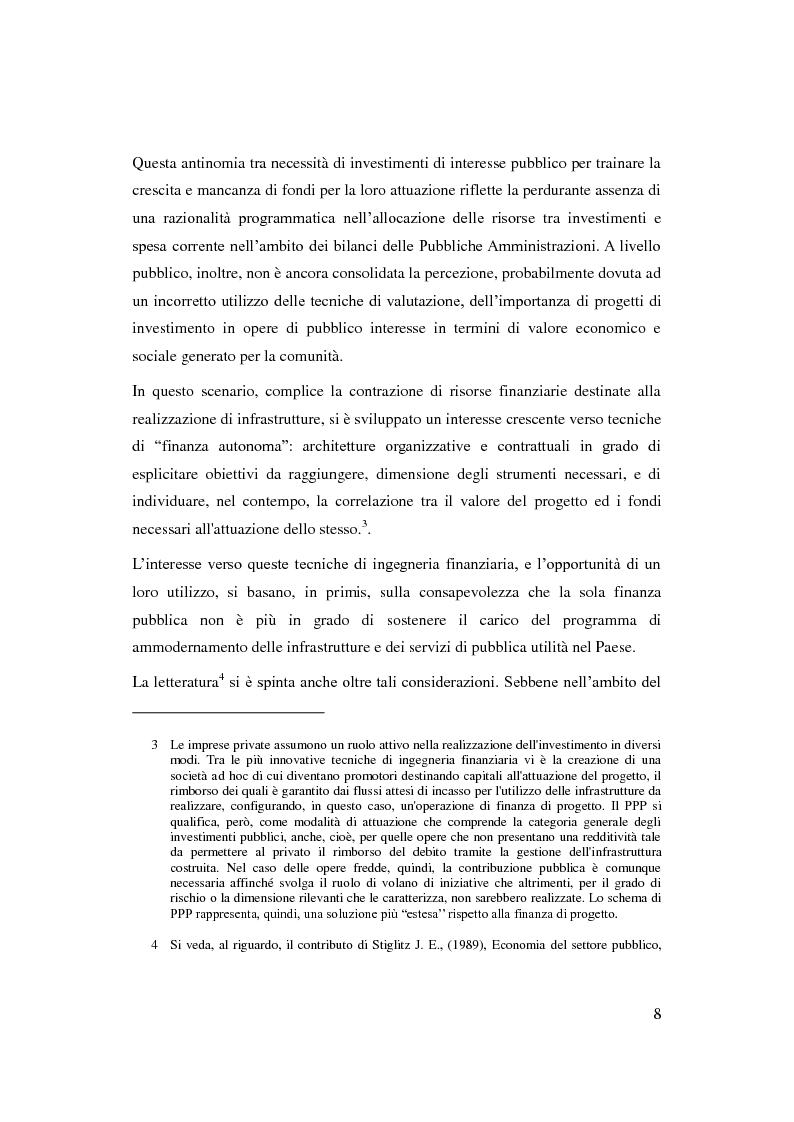 Anteprima della tesi: Il Partenariato Pubblico Privato in Italia: esiti, tendenze e prospettive, Pagina 4