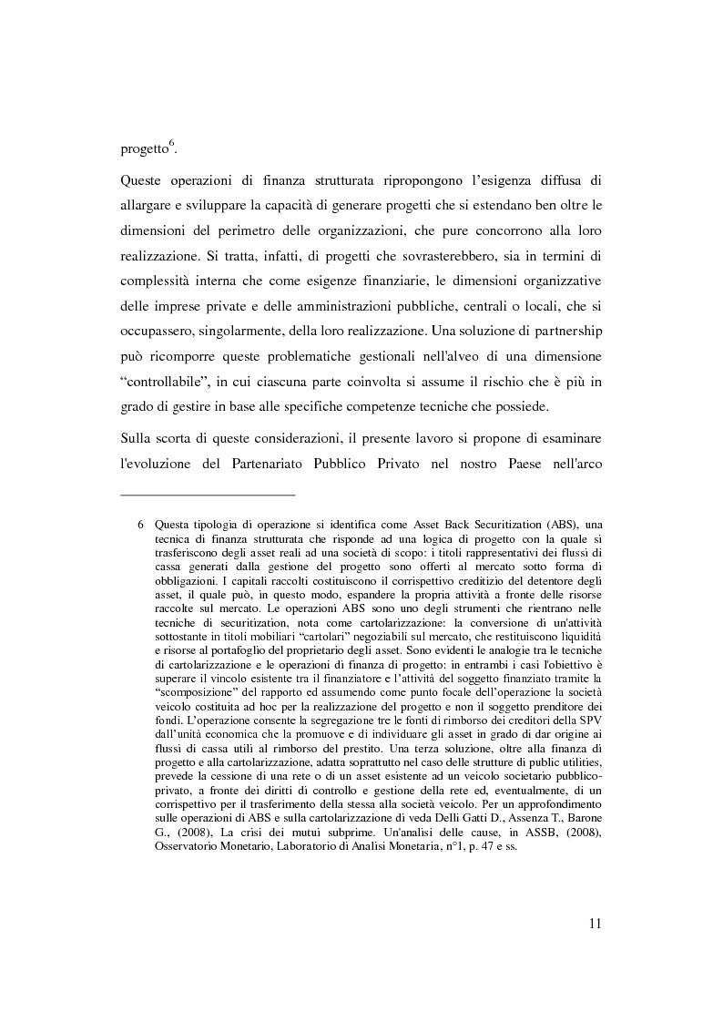 Anteprima della tesi: Il Partenariato Pubblico Privato in Italia: esiti, tendenze e prospettive, Pagina 7