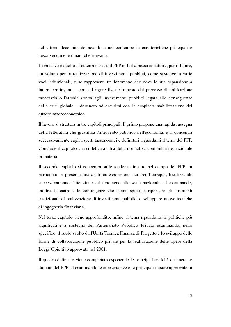 Anteprima della tesi: Il Partenariato Pubblico Privato in Italia: esiti, tendenze e prospettive, Pagina 8