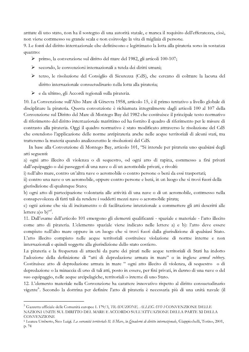 Anteprima della tesi: Pirateria e diritti umani, Pagina 4