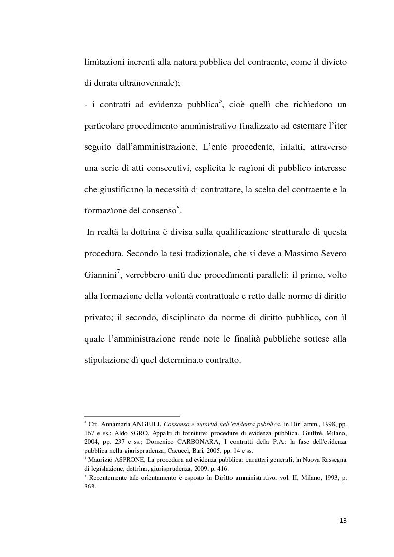 Anteprima della tesi: L'emergenza come deroga all'evidenza pubblica, Pagina 10