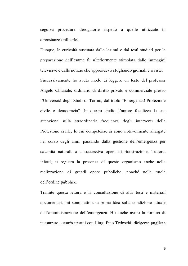 Anteprima della tesi: L'emergenza come deroga all'evidenza pubblica, Pagina 3