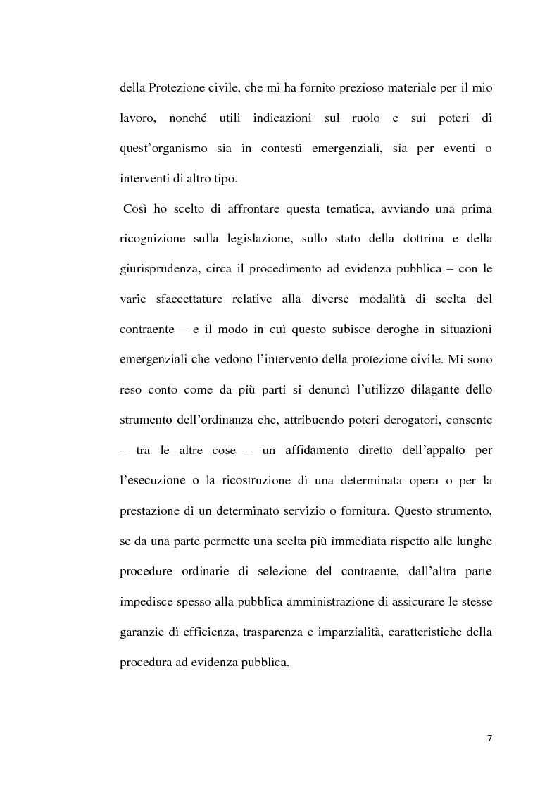 Anteprima della tesi: L'emergenza come deroga all'evidenza pubblica, Pagina 4