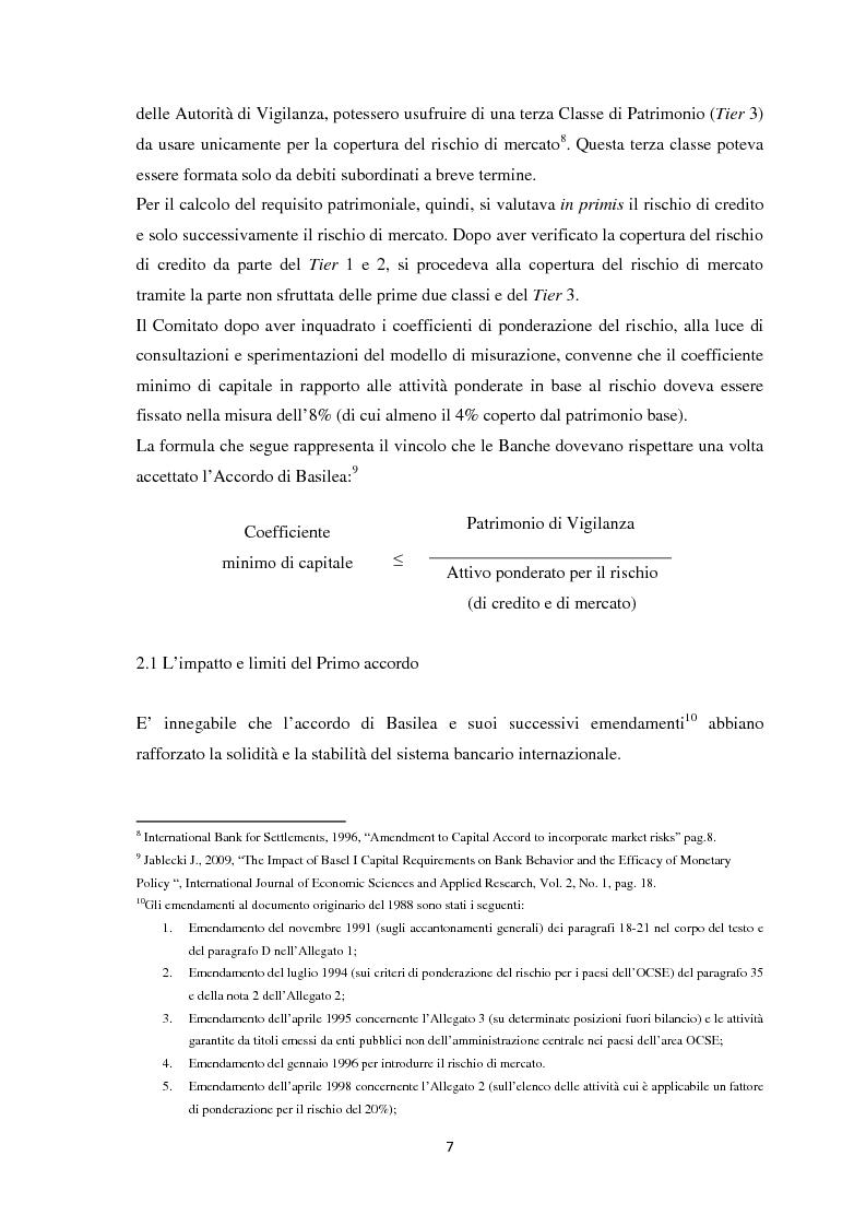 Anteprima della tesi: La Regolamentazione di Basilea III e gli effetti sulle Piccole e Medie imprese, Pagina 11