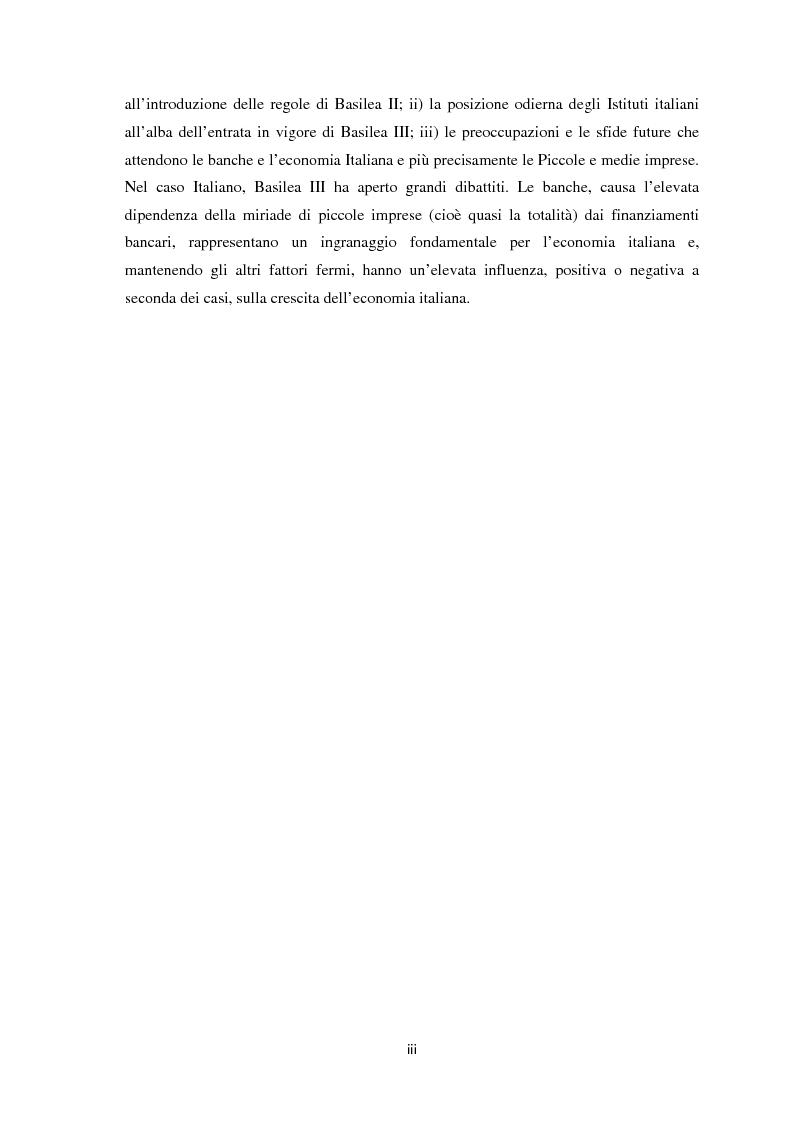 Anteprima della tesi: La Regolamentazione di Basilea III e gli effetti sulle Piccole e Medie imprese, Pagina 4