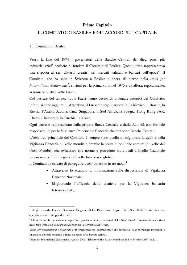 Anteprima della tesi: La Regolamentazione di Basilea III e gli effetti sulle Piccole e Medie imprese, Pagina 5