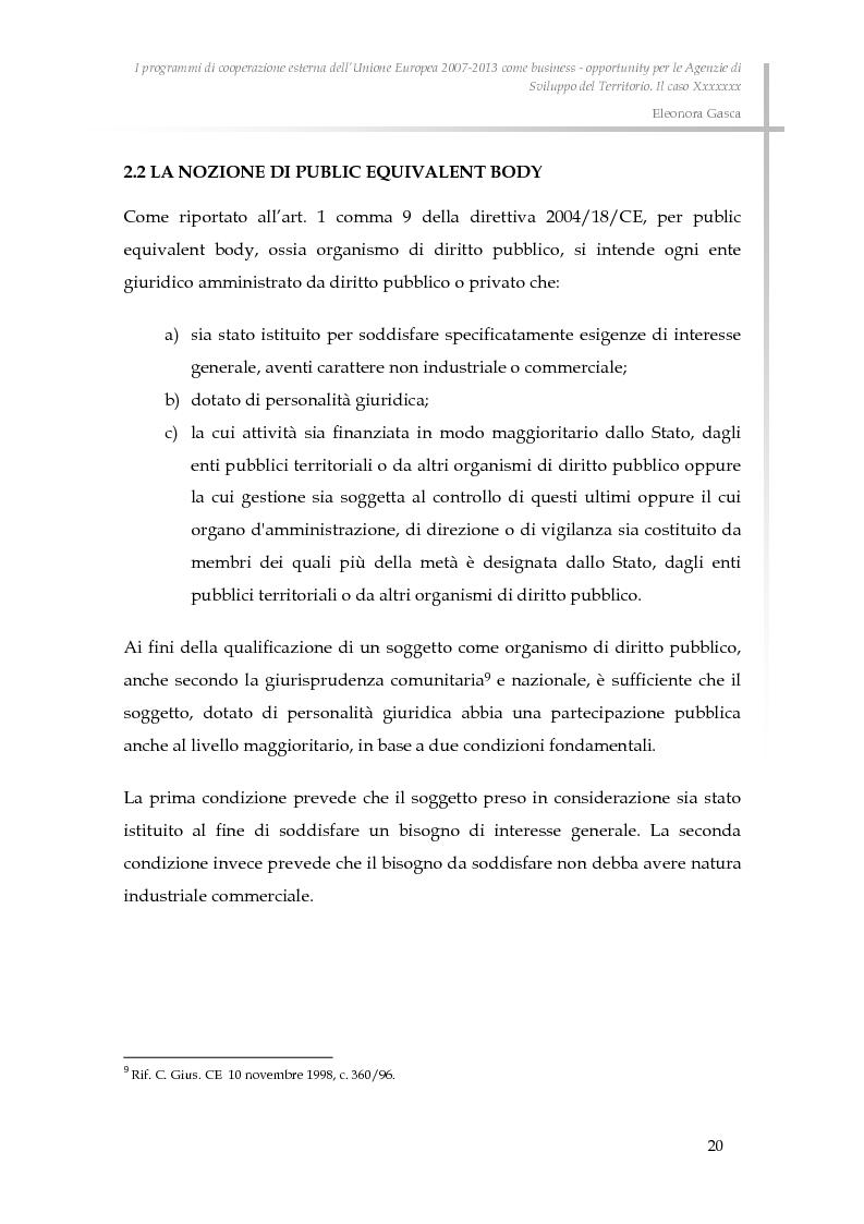 Anteprima della tesi: I programmi di cooperazione esterna dell'Unione Europea 2007-2013 come business - opportunity per le Agenzie di Sviluppo del Territorio., Pagina 12