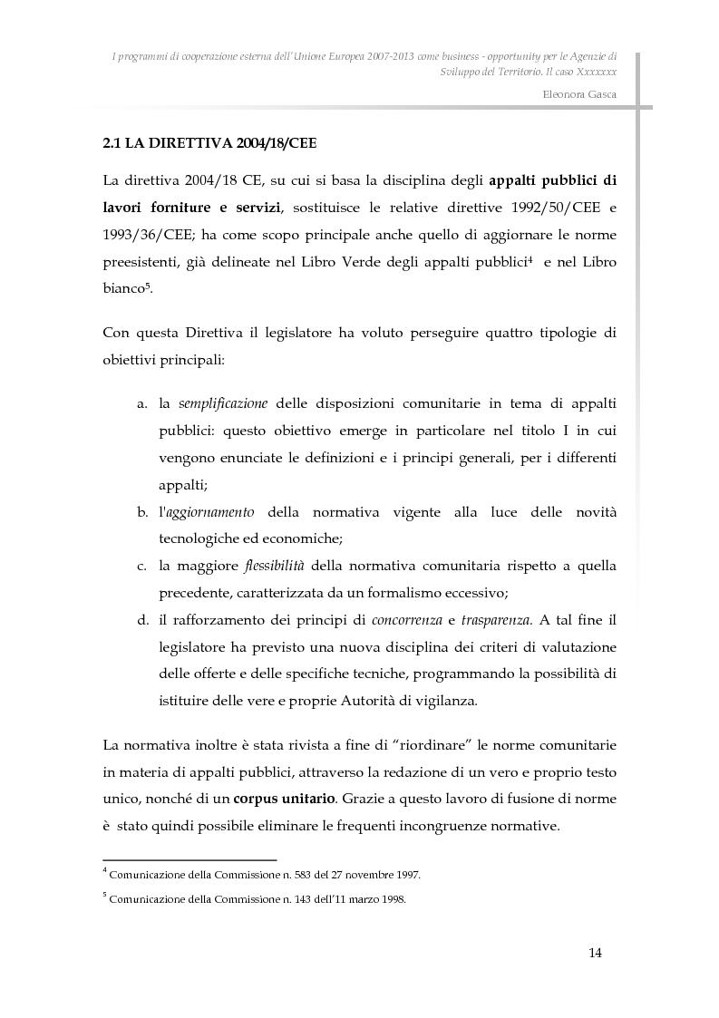Anteprima della tesi: I programmi di cooperazione esterna dell'Unione Europea 2007-2013 come business - opportunity per le Agenzie di Sviluppo del Territorio., Pagina 6