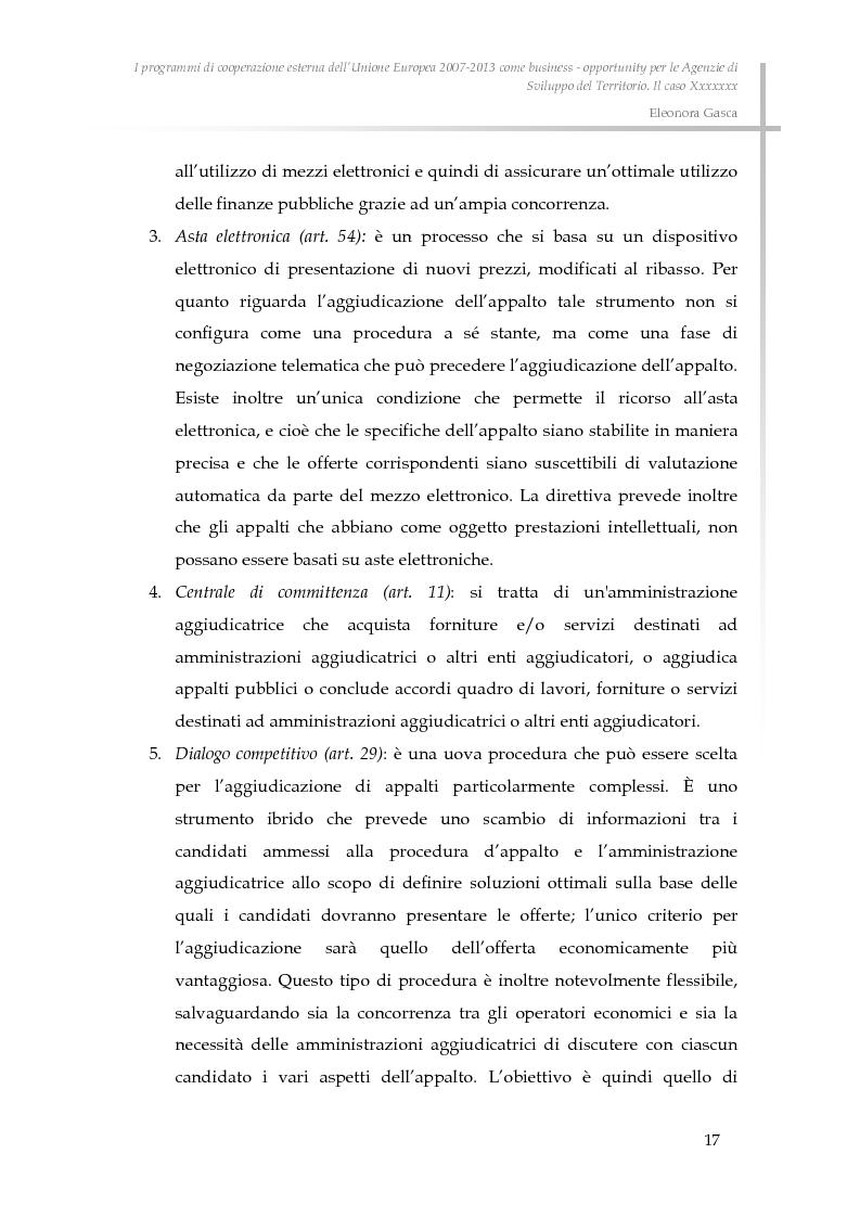 Anteprima della tesi: I programmi di cooperazione esterna dell'Unione Europea 2007-2013 come business - opportunity per le Agenzie di Sviluppo del Territorio., Pagina 9