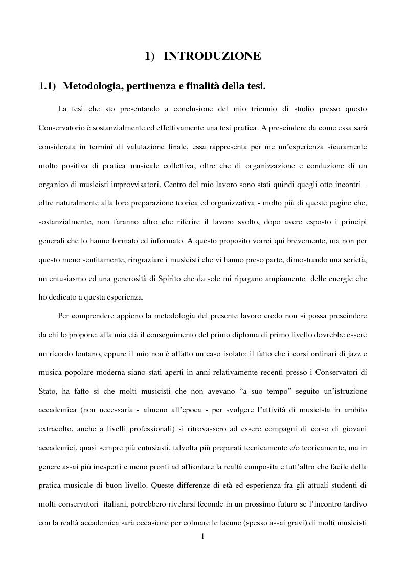 Anteprima della tesi: Il laboratorio di improvvisazione nella didattica jazzistica. Alcune riflessioni ed un'esperienza pratica, Pagina 2
