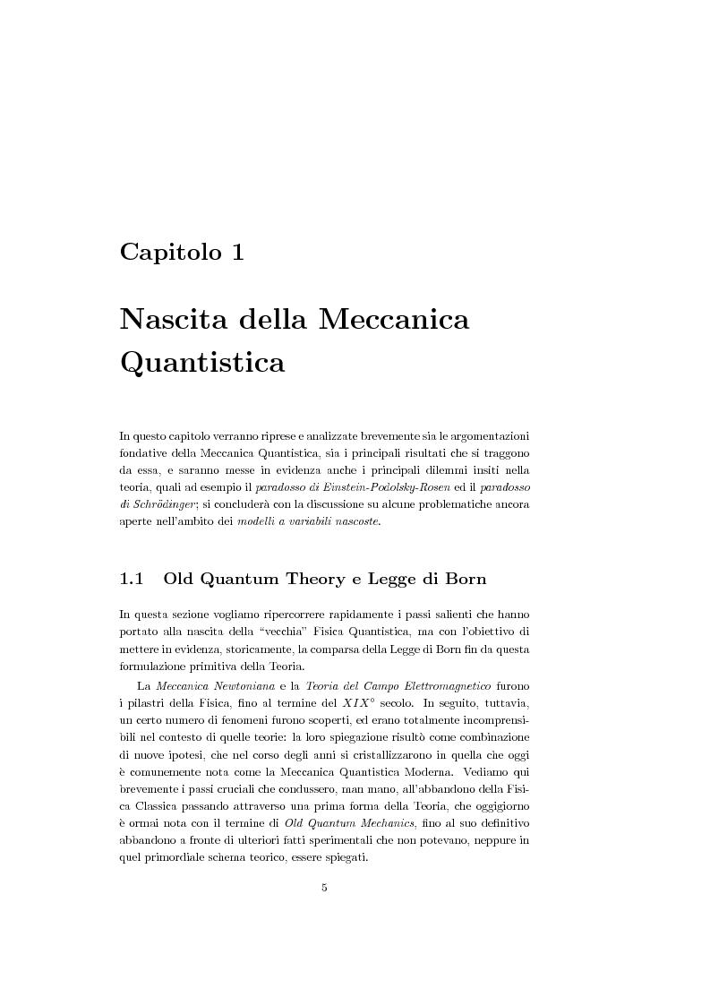 Anteprima della tesi: Una Teoria a Variabili Nascoste in Sostituzione della Meccanica Quantistica, Pagina 2