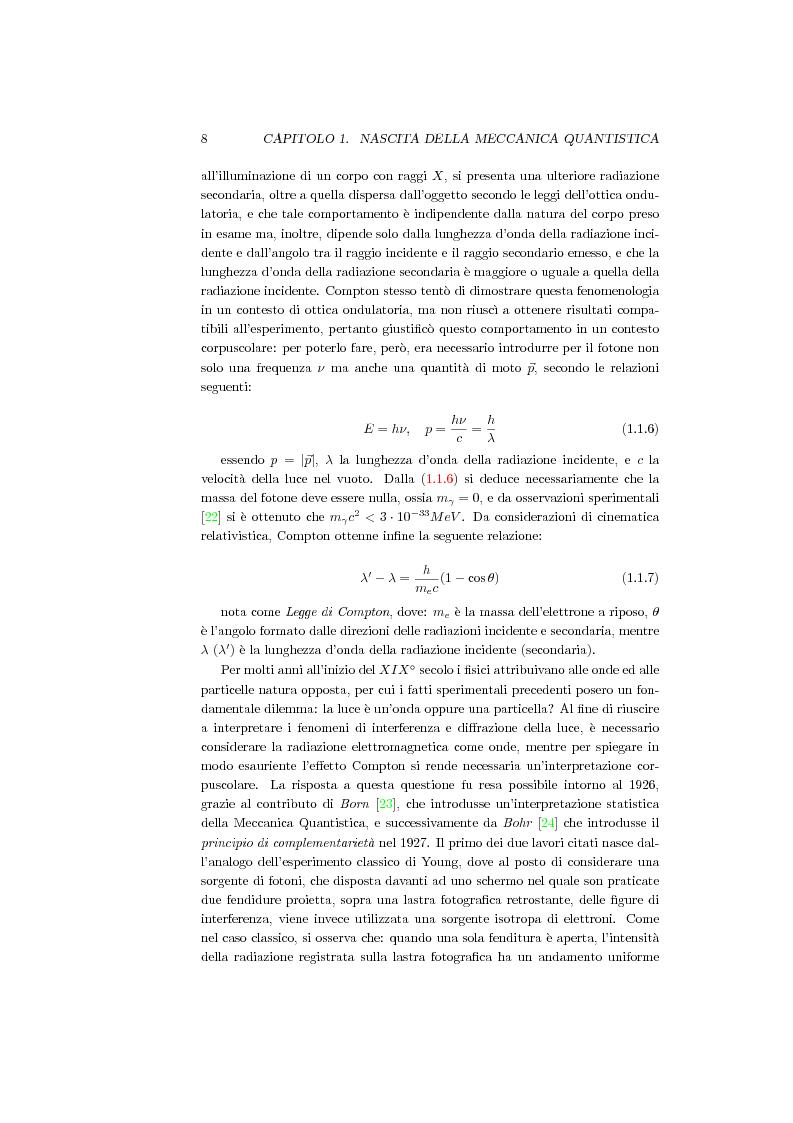 Anteprima della tesi: Una Teoria a Variabili Nascoste in Sostituzione della Meccanica Quantistica, Pagina 5
