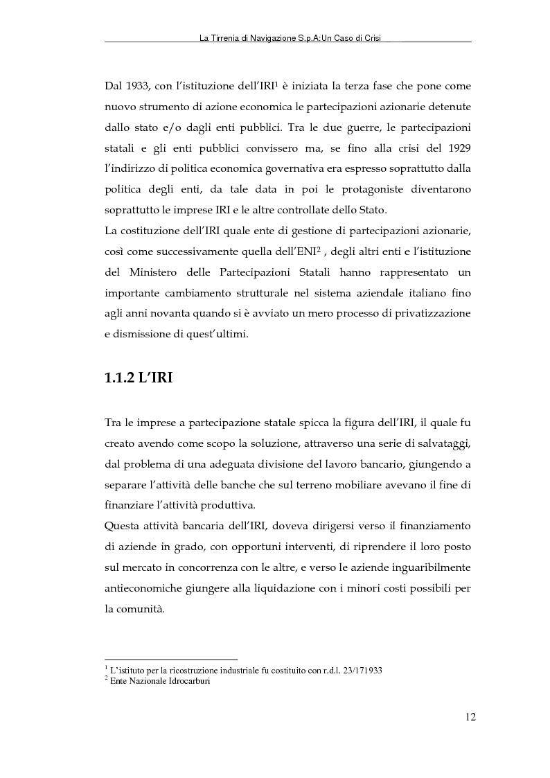 Anteprima della tesi: La Tirrenia di Navigazione S.p.A. : un caso di crisi, Pagina 10
