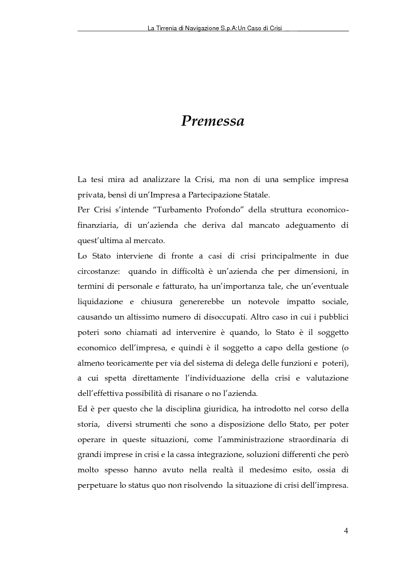 Anteprima della tesi: La Tirrenia di Navigazione S.p.A. : un caso di crisi, Pagina 2