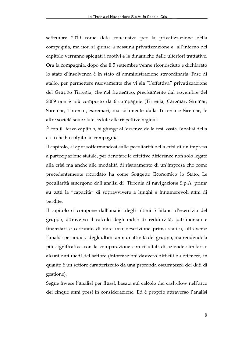 Anteprima della tesi: La Tirrenia di Navigazione S.p.A. : un caso di crisi, Pagina 6