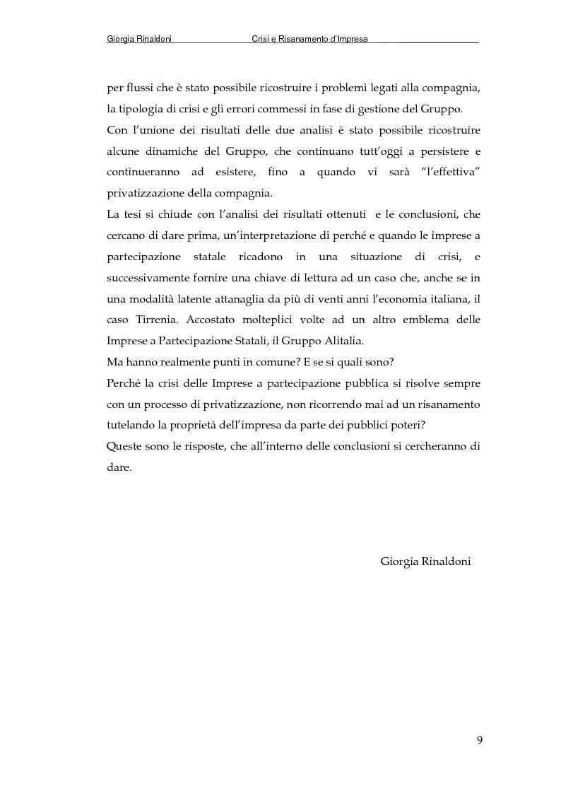 Anteprima della tesi: La Tirrenia di Navigazione S.p.A. : un caso di crisi, Pagina 7
