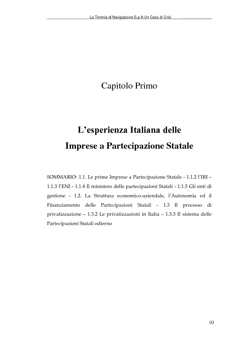 Anteprima della tesi: La Tirrenia di Navigazione S.p.A. : un caso di crisi, Pagina 8