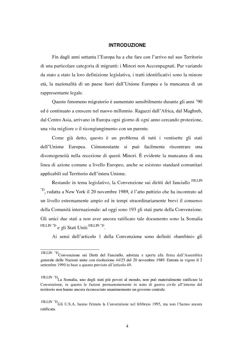 Anteprima della tesi: La Tutela dei Minori non Accompagnati nel'Unione Europea, con un particolare riferimento agli Stati Membri dell'Europa Orientale, Pagina 2