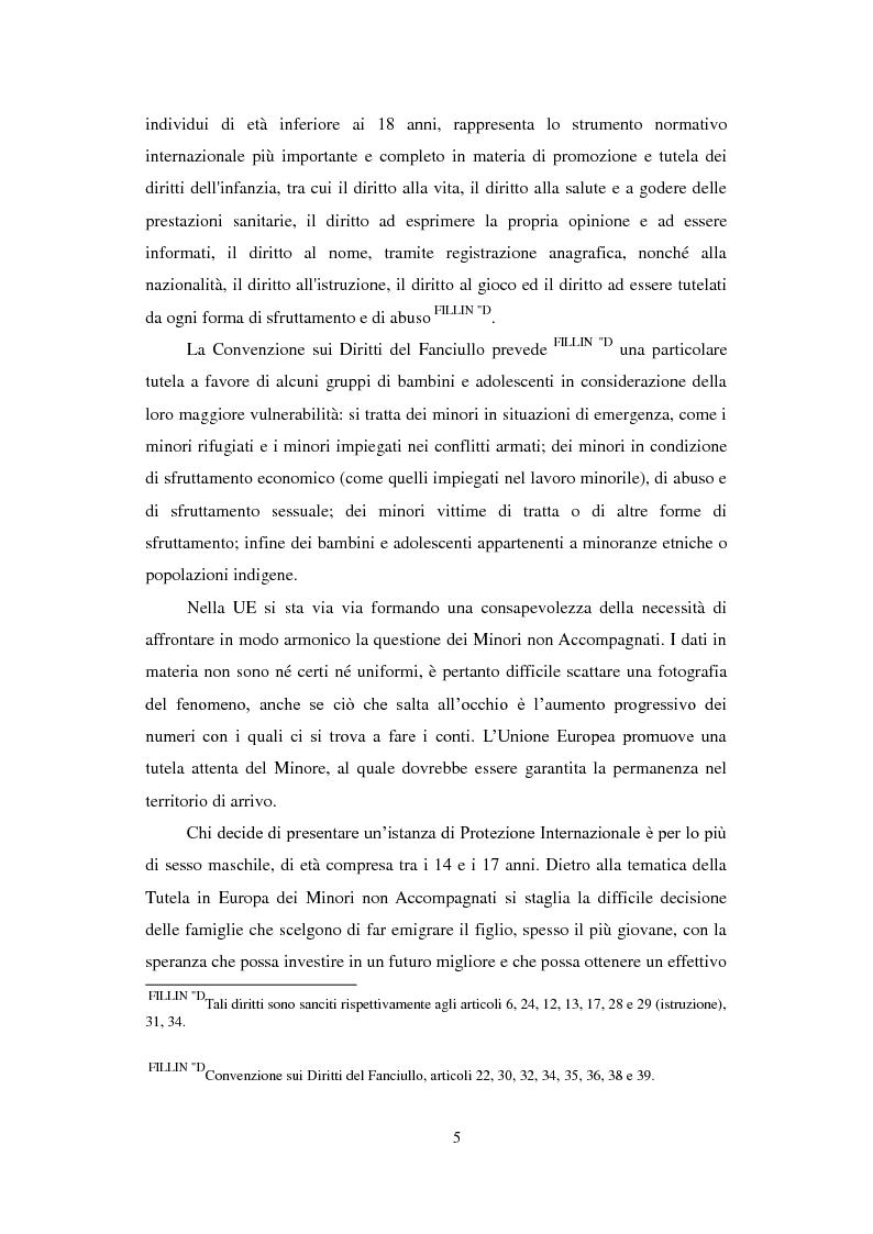 Anteprima della tesi: La Tutela dei Minori non Accompagnati nel'Unione Europea, con un particolare riferimento agli Stati Membri dell'Europa Orientale, Pagina 3