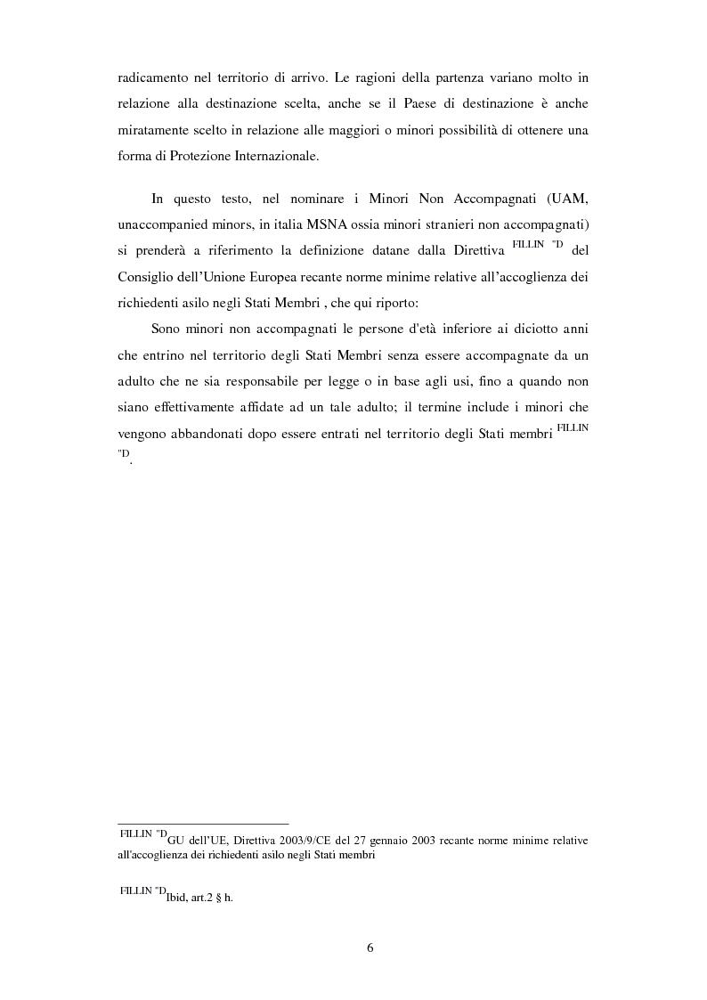 Anteprima della tesi: La Tutela dei Minori non Accompagnati nel'Unione Europea, con un particolare riferimento agli Stati Membri dell'Europa Orientale, Pagina 4