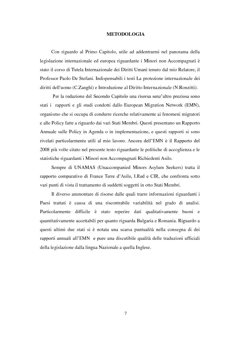 Anteprima della tesi: La Tutela dei Minori non Accompagnati nel'Unione Europea, con un particolare riferimento agli Stati Membri dell'Europa Orientale, Pagina 5