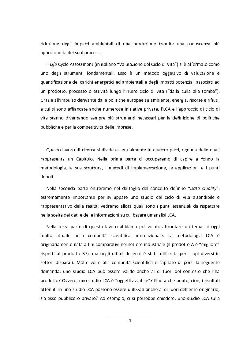 Anteprima della tesi: La metodologia LCA (Life Cycle Analysis). Sfide e potenzialità per il futuro., Pagina 3